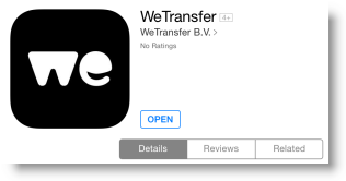 photo wetransfer sur ipad